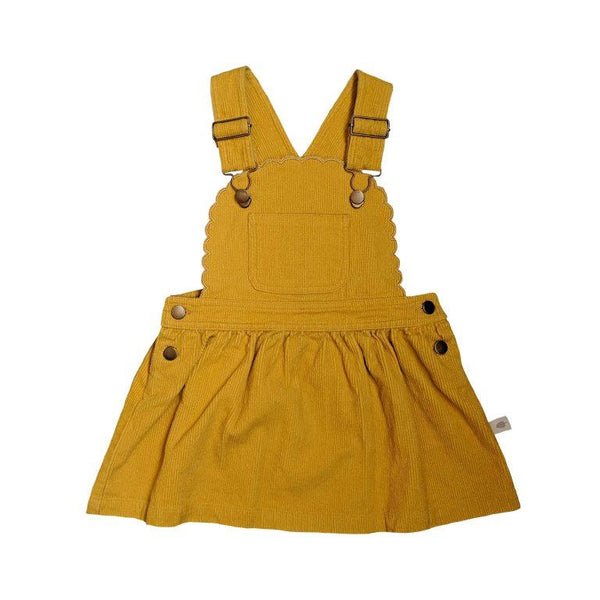 Peggy Cleo Pinafore - Mustard Cord