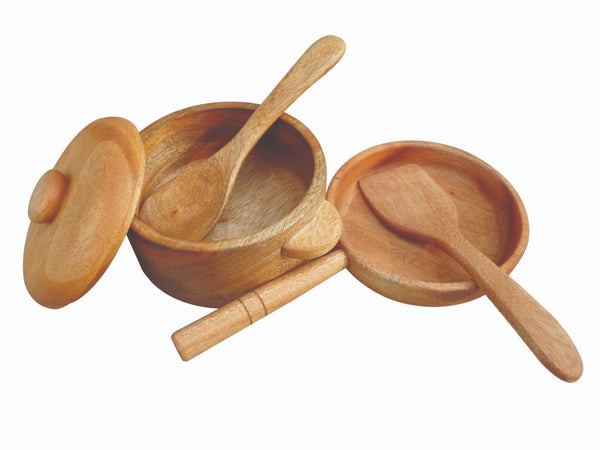 Qtoys - Mahogany Pot and Pan Set