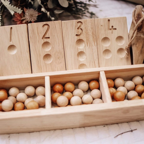 Qtoys - Two Tone Wooden Balls - 50 Set