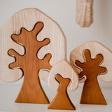 Qtoys - Two Toned Wooden Trees