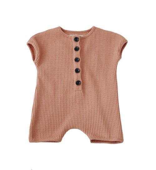 Ruffets and Co Jude Romper - Toast