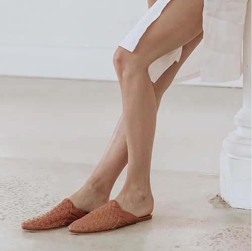 Scandic Gypsy - Woven Mule - Summer Tan