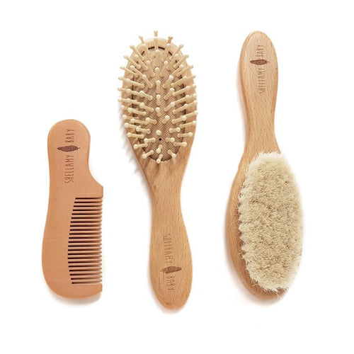 Shellamy Baby - Wooden Baby Hairbrush and Comb Set