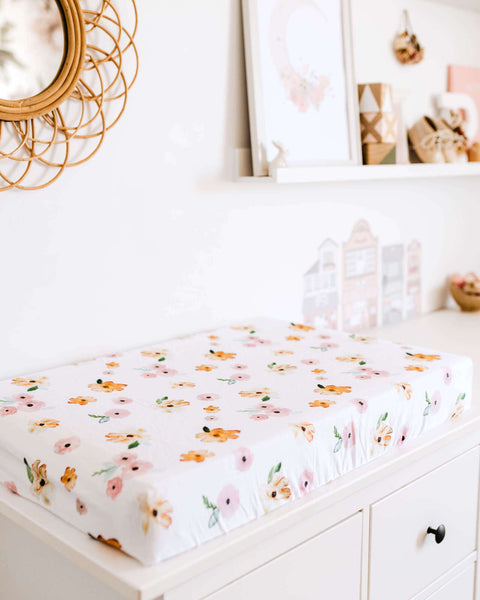 Snuggle Hunny Fitted Bassinet Sheet - Poppy