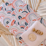 Snuggle Hunny Fitted Bassinet Sheet - Rainbow Baby