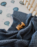 Snuggle Hunny Diamond Knit Blanket - River