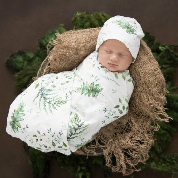 Snuggle Hunny Jersey Wrap and Beanie Set - Enchanted