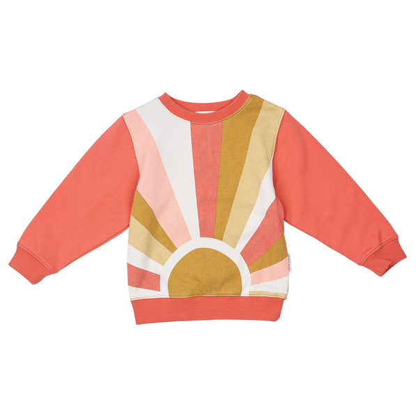 Goldie + Ace Relaxed Sunrise Sweater - Peach Pink