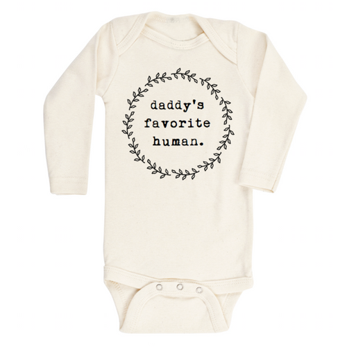 Tenth & Pine Long Sleeve Onesie - Daddys Favorite Human
