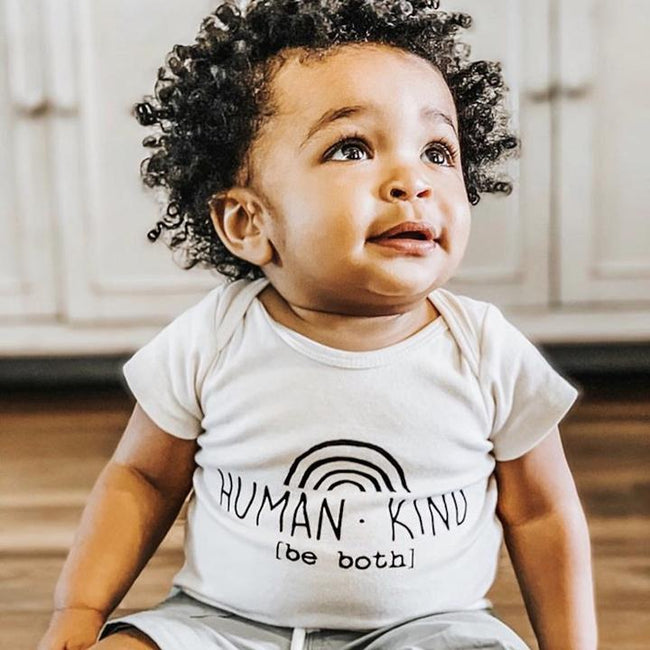 Tenth & Pine Short Sleeve Onesie - Human Kind