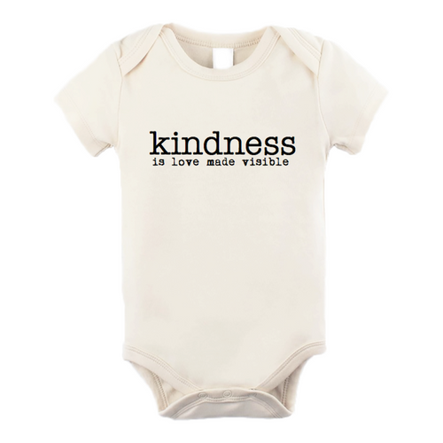 Tenth & Pine Short Sleeve Onesie - Kindness is Love