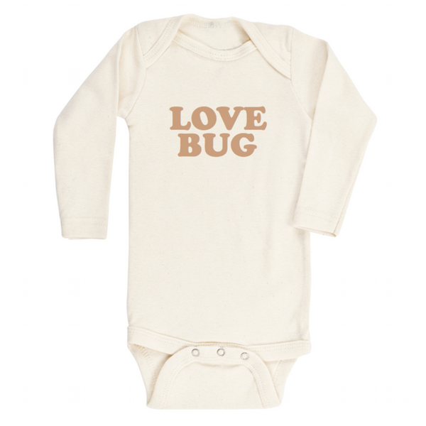 Tenth & Pine Long Sleeve Onesie - Love Bug - Clay