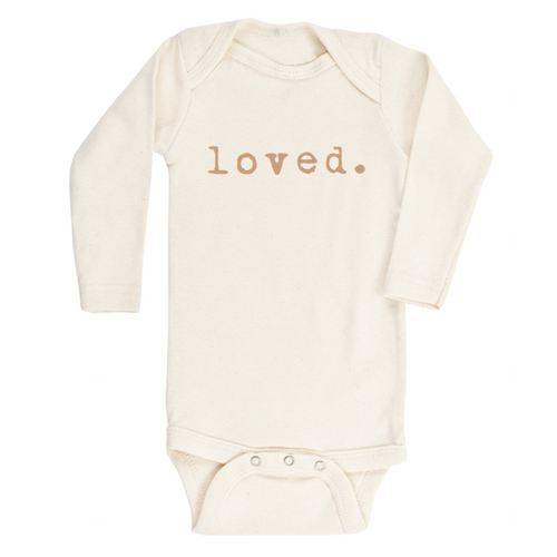 Tenth & Pine Long Sleeve Onesie - Loved - Clay