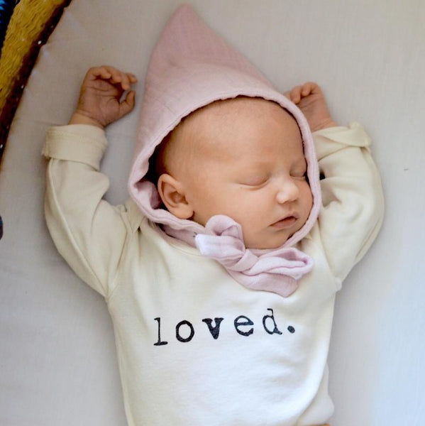 Tenth & Pine Long Sleeve Onesie - Loved