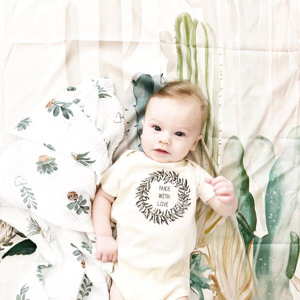Tenth & Pine Short Sleeve Onesie - Made With Love