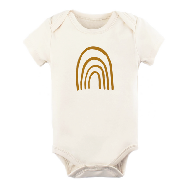 Tenth & Pine Short Sleeve Onesie - Rust Rainbow
