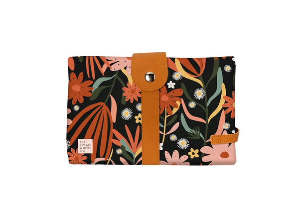 The Somewhere Co. Travel Baby Change Mat and Wallet - Auburn Nights