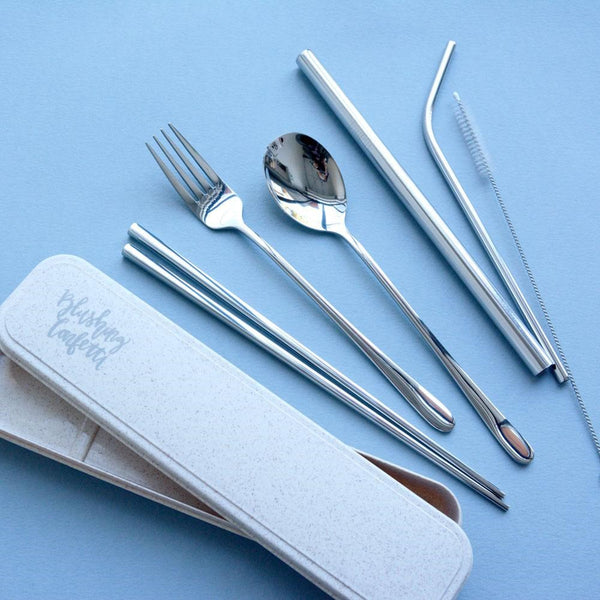 The Somewhere Co. Take Me Away Cutlery Kit - Silver