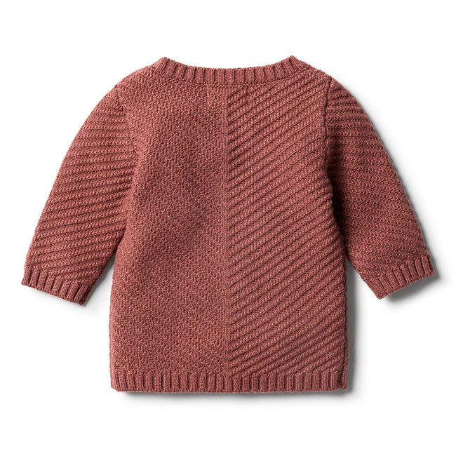 Wilson & Frenchy Knitted Chevron Jumper - Chilli