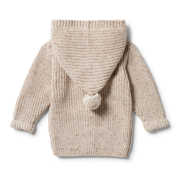 Wilson & Frenchy Knitted Jacket - Oatmeal Fleck