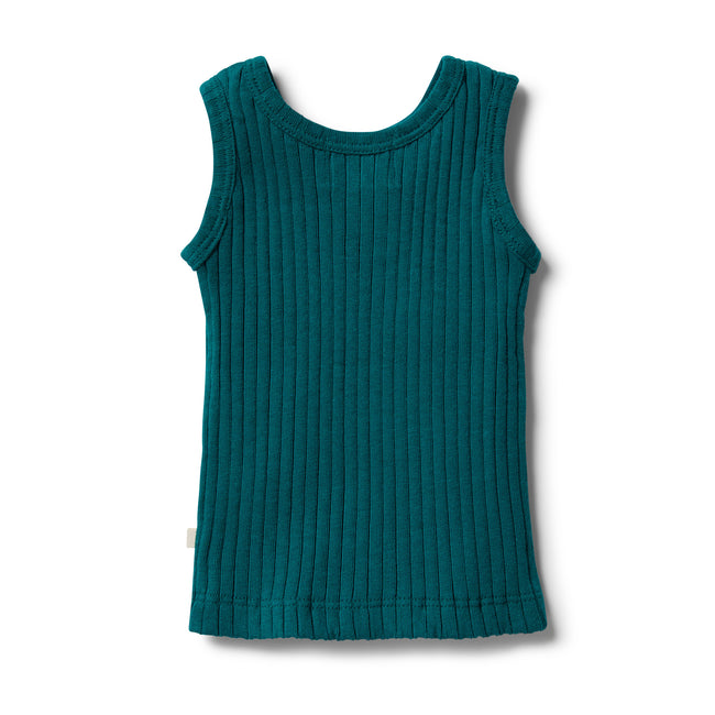 Wilson & Frenchy Organic Ribbed Tank Top - Bottle Green