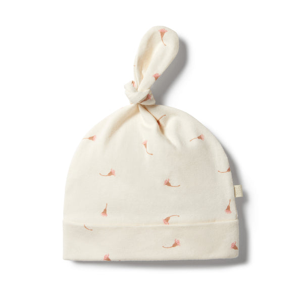 Wilson & Frenchy Organic Top Knot Hat - Little Blossom