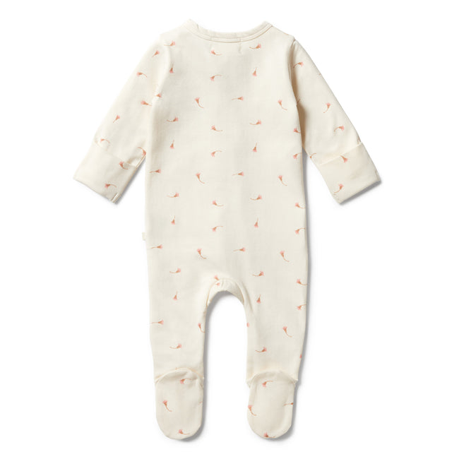 Wilson & Frenchy Organic Long Sleeve Zipsuit with Feet - Little Blossom