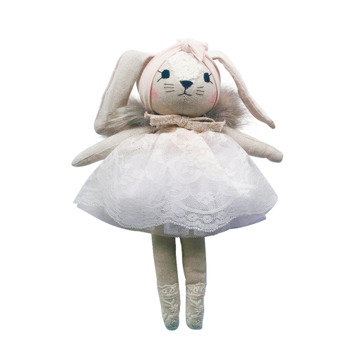 Wonderforest Co Bunny Doll - Powder Pink