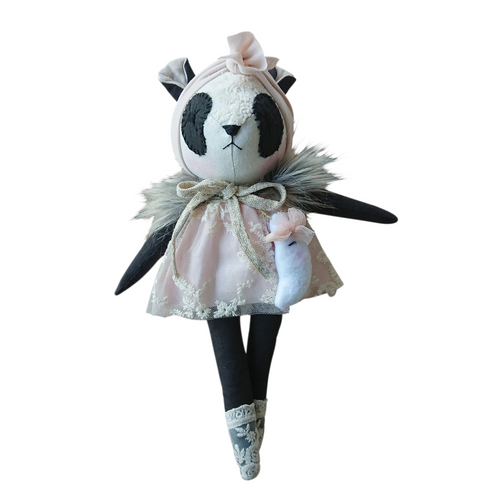 Mini Winther Co Panda Doll - Pretty Pink