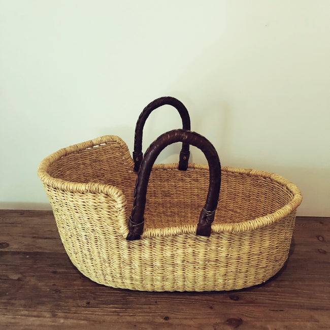 Mini Moses Basket - Natural