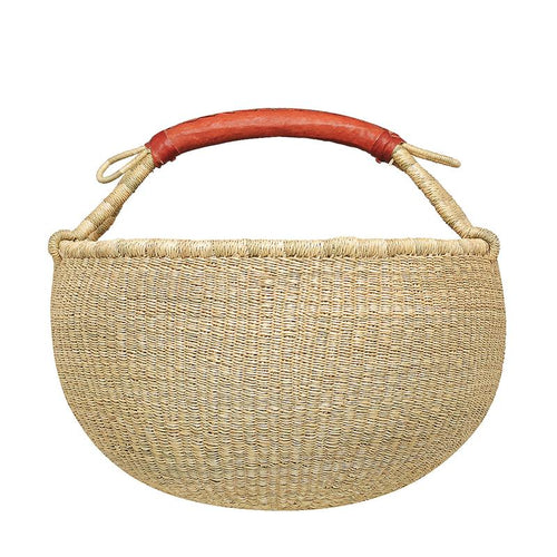 Woven Round Basket - Natural Large