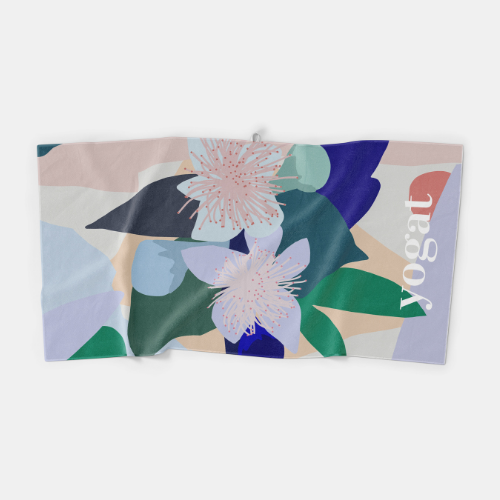 Yogat Microfibre Towel - Wildflower by Xander Holliday
