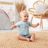 ergoPouch 0.2 tog Short Sleeve Bamboo Romper - Pebble