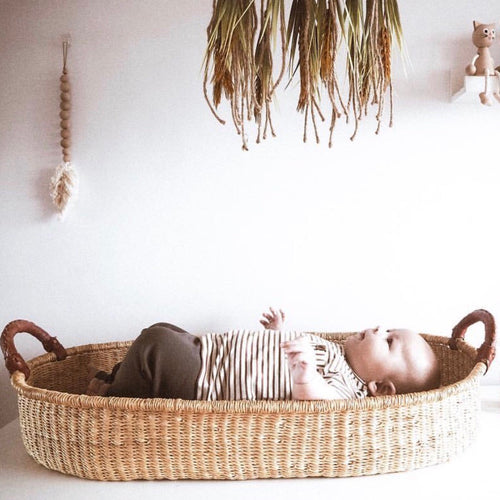 Baby Change Basket - Natural