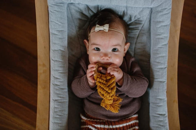 Love Macrame - Macrame Teether - Mustard