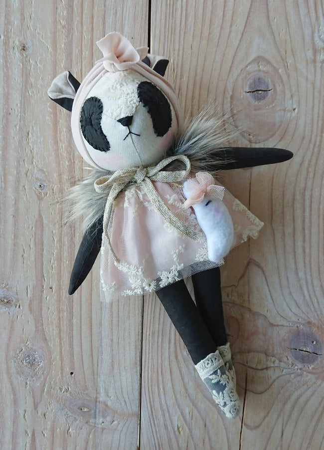 Wonderforest Co Panda Doll - Pretty Pink