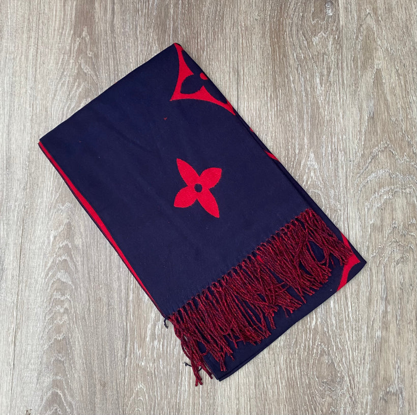 Red/navy scarf