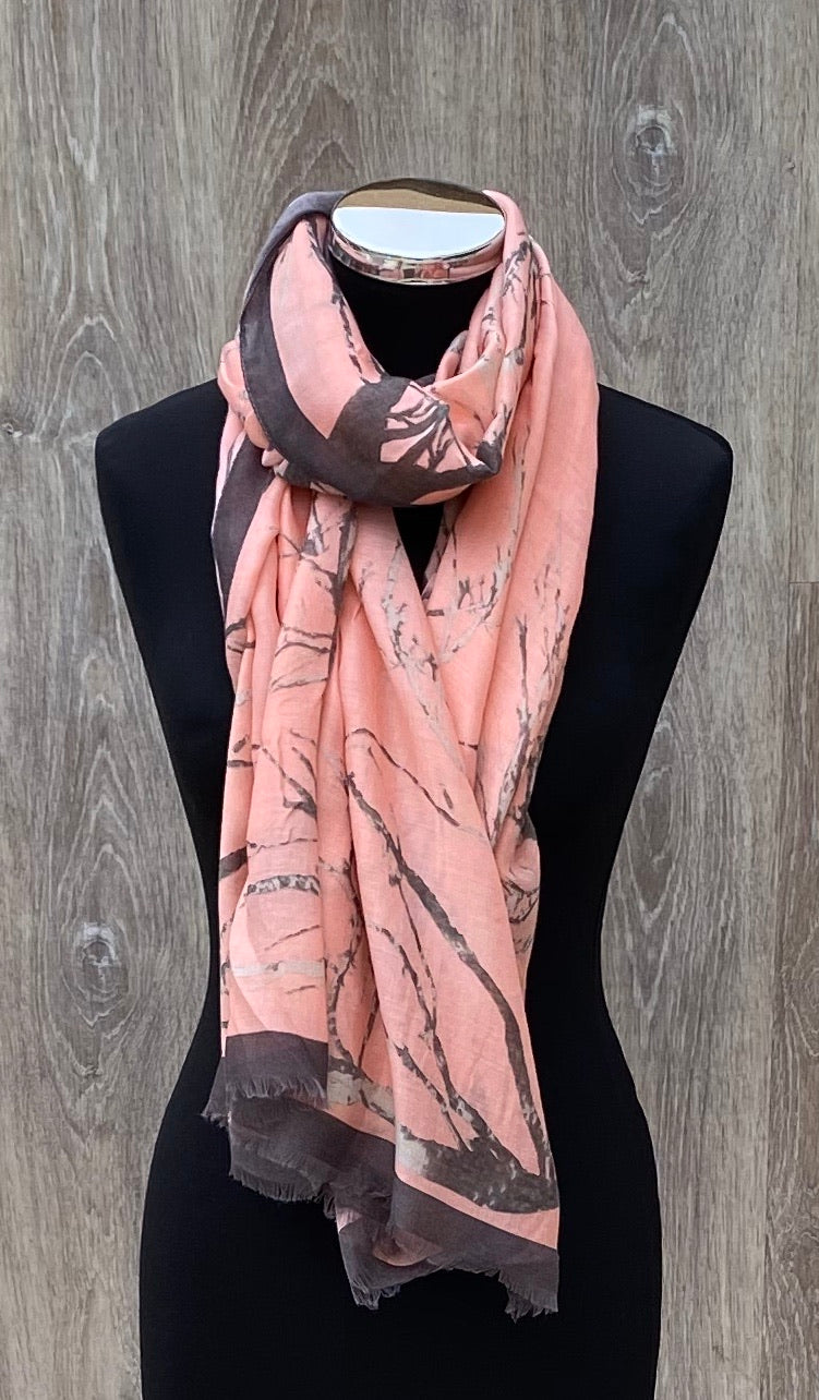 Abstract bark scarf
