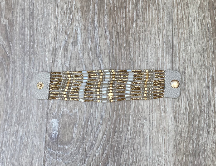 Gold/grey Multi Strand Bracelet
