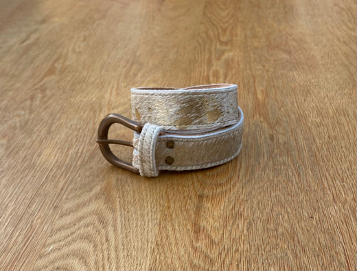 Rose Gold Fleck Leather Belt