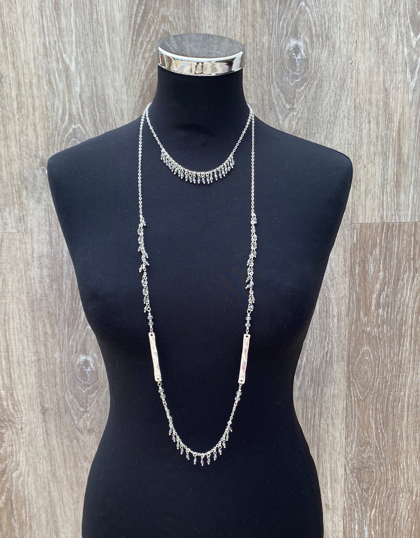 Envy Double length beaded necklace