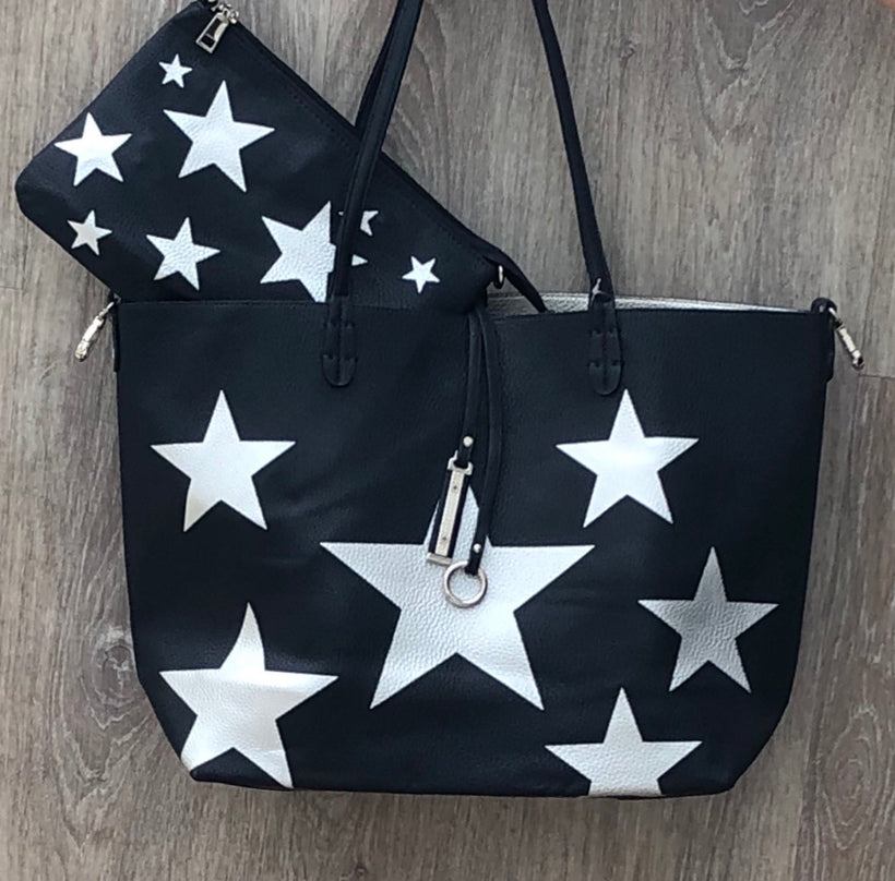 Reversible Star Bag with clutch