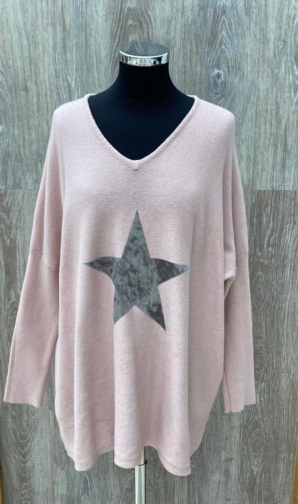 V Neck Star Jumper