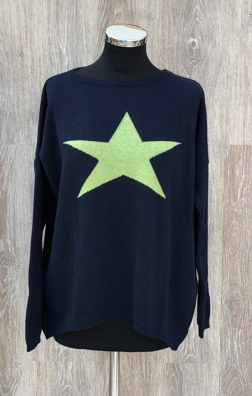 Cashmere Mix Star Jumper (various colours)