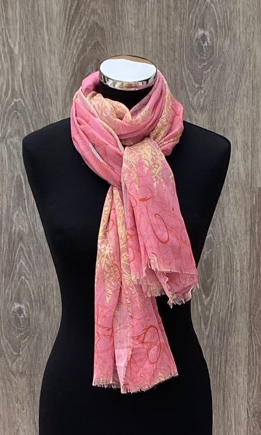 Indian print scarf
