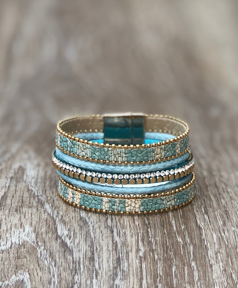 Envy Aqua and Gold Cuff