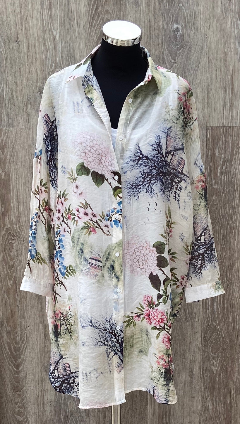 Fenella Floral Long Length Shirt