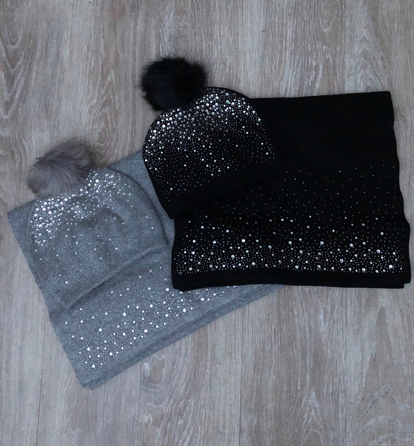 Sparkle Hat and Scarf Set