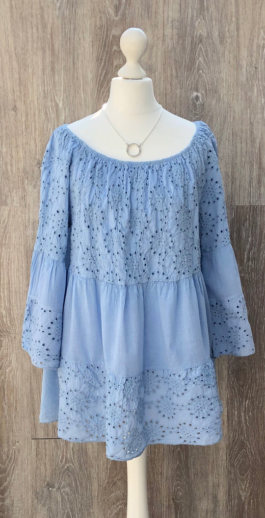 Broderie Anglaise Boho Top