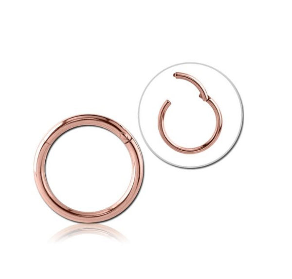 6mm Hinged Nose Ring in ROSE GOLD